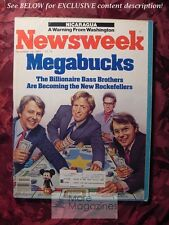 NEWSWEEK November 19 1984 11/19/84 Nov 84 BASS BROTHERS REAGAN ELECTION