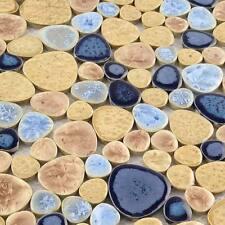 Pebble Ceramic Tile Beige Cobblestone Floor Tiles Porcelain Kitchen Wall (11 PCS