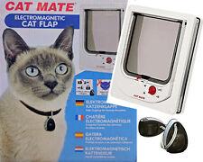 MASSIVE SALE - CAT MATE ELECTROMAGNETIC 4 WAY LOCKING CAT DOOR FLAP RRP $149