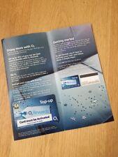 O2 Mobile E-Top-up swipe card New Free Postage !!
