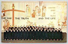 Moorhead Minnesota~Concordia College Choir at Christmas~Christian Mural~1964