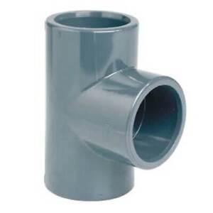Raccordo a TI 3 vie PVC incollaggio connettor 16 20 25 32 40 50 63 mm tubo acqua