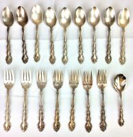 Vintage Oneida Community Beethoven Flatware 17 Pieces Silver Plated USA 1971