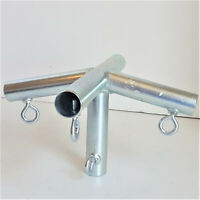 """P4DB 4 way TOP END LOW PEAK DOWN ANGLE FITTING w//LEG 1/"""" Pipe Free Shipping *"""