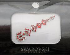Bindi bijoux piel boda frente strass cristal de Swarovski rojo INHD 3624