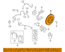 MINI OEM 07-15 Cooper Front Brake-Disc Rotor 34116858651