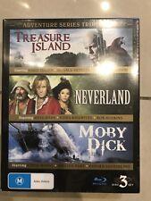 Adventure Series Triple Treasure Island Neverland Moby Dick DVD Region 4