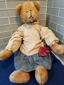 VINTAGE TEDDY BEAR DRESSED PLUSH  COLLECTIBLE