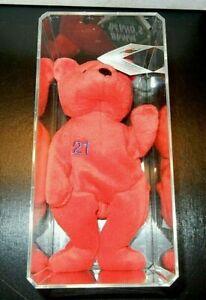 Chicago Cubs Sammy Sosa #21 Plush Bear With Tag Baseball Red MLB Bamm Beano's