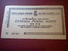 entrada 1961 VII copa europa CHAMPIONS REAL MADRID B 1913 ODENSE ORIGINAL TICKET