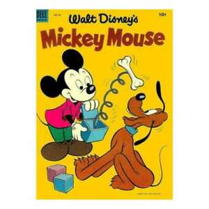 Mickey Mouse (1941 series) #34 in Very Good + condition. Dell comics [*4a]