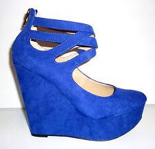 Occaz' : Chaussure Talon Compensée JustFab Bleue 36  - NEUF