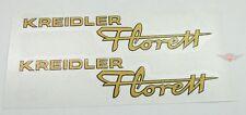 KREIDLER FLORETT cuve oeufs réservoir / capot autocollants pièce or K54 NEUF