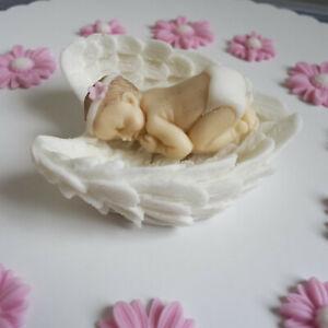 Baby Taufe Geburt Tortendeko Torte Aufleger Zuckerfigur Fondant Kuchen