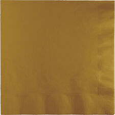 "50 Glitter Gold Wedding Birthday Party Tableware 5"" Paper 2ply Beverage Napkins"