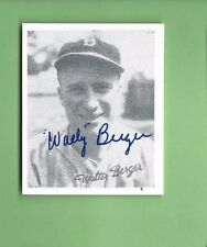 WALLY BERGER AUTOGRAPH Auto  SIGNED BOSTON BRAVES LED LN IN HOMERS 1935