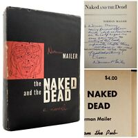 Naked and the Dead – 1ST EDITION – SIGNED & INSCRIBED ASSOCIATION Norman MAILER