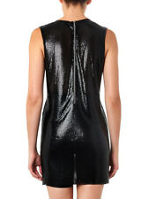 NEW Alice + Olivia Chainmail Metal Black Dress