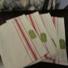 Set of 4  Target Placemat Christmas Red strip on Natural New w tags
