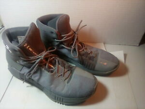 Men's Under Armour Drive 4 High Top Basketball Shoes - Gray Size 13