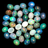Natural Opal 40 Pcs Finest Quality Flashy Untreated Oval Cabochons Lot 5mm/4mm