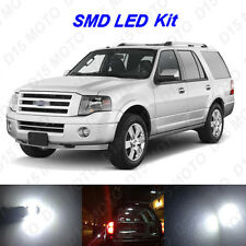 12x White LED interior Bulbs + Reverse + Tag Light For 2007-2016 Ford Expedition
