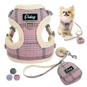 Pet Harness&Leash&Treat Bag Soft Mesh Walking Vest Small Medium Dogs Chihuahua