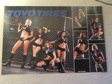 Rare  Playboy Car Model Rachel Sterling Toyo Tires 24x36 Promo Poster !!!