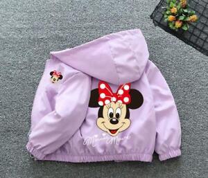 Baby kids Jacket wind coat Cotton girl Cartoon Hooded  Zipper Cardigan Jacket