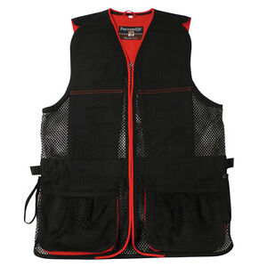 Percussion Skeet Vest in Black and Red Clay Pigeon shooting
