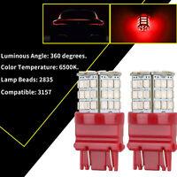 2Pcs 3157 LED Bombillas de luz de freno rojas Lámpara de estacionamiento trasera