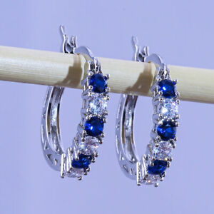 4 Colors Drop Earrings for Women 925 Silver Jewelry Cubic Zircon A Pair/set