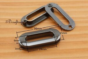 eyelets alloying metal  screw on eyelet grommets gunmetal oval 8 sets 24 mm CK86