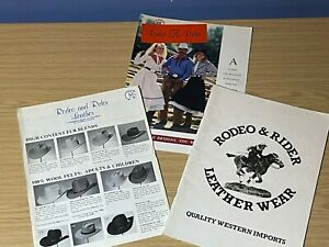Vintage (1980s) Rodeo & Rider Leather Wear Quality Western Imports Catalogues