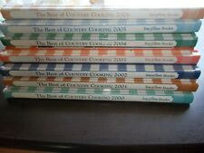 taste of  Home's The Best of Country Cooking Recipes set of 7 2000-2006