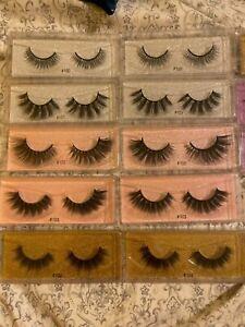 3D Mink Natural False Eyelashes WHOLESALE 10-200 Mix Pair SET Makeup Lashes BULK