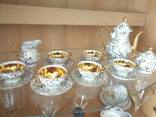 VINTAGE GOLD LUSTRE Fine Porcelain coffee set by Händel Bavaria
