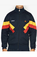 New Ellesse Chierroni Mens Sz L Large Full Zip Track Top Jacket Blue Gold Red