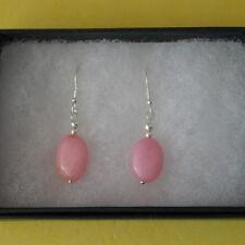 Beautiful Earrings With Pink Morganite Gems 2 Gr.2.5 Cm.Long + 925 Silver Hooks