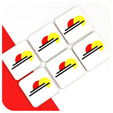 Bauhaus Style Modernist Coasters (6), Mondrian Drinks Coasters, Art Deco decor