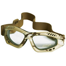 Military Combat Commando Air Pro Goggles Eyes Protection Clear Lens Desert Camo