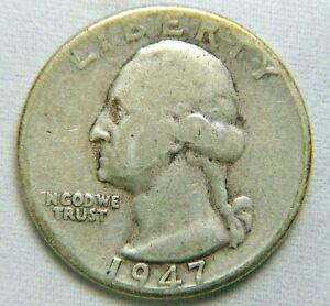 1947 D 90% Silver Washington Quarter Circulated