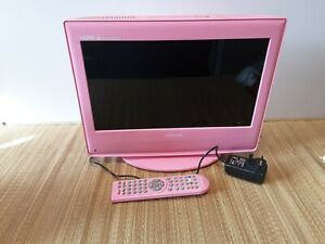 """Clarity Pink Tv / Dvd Combi 15"""" Great For A Child's Bedroom Fully Working"""