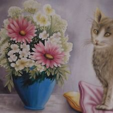 Affiche peinture painting Mon ami le chat Jean-Yves CHAVAIS FC23 Made in France