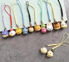 12PCS animal Lucky cartoon Cell Phone Charm Strap JINGLE BELLS Dangle Figures