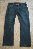 ### Mens Jeans size 34 x 32 Arizona Original Boot Cut, blue denim male