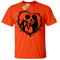 Jack and Sally Mens T-Shirt S-5XL Nightmare Gothic Christmas Halloween