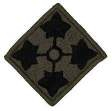 "LAST TWO! 4th Infantry Division OD Patch (407X) 2 1/2"" x 2 1/2"" Embr Patch 41739"