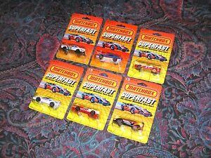 Vintage Matchbox Superfast LOT of 8 BLISTER PACKS! Lamborghini Firebird Corvette