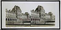 Padiglione Brogue Louvre Targa Di Vetro Pos. Vintage 8,5x17cm Ca 1870